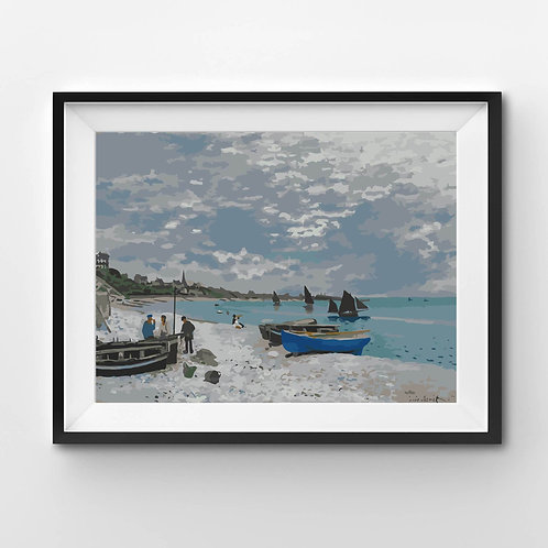 The Beach at Sainte Adresse - Paint By Numbers
