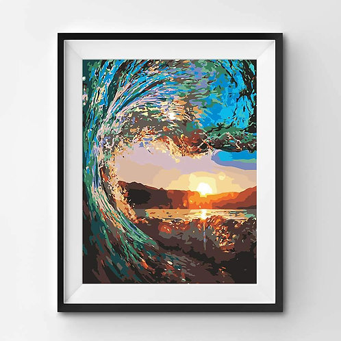 Under the Wave Sunset - Paint By Numbers