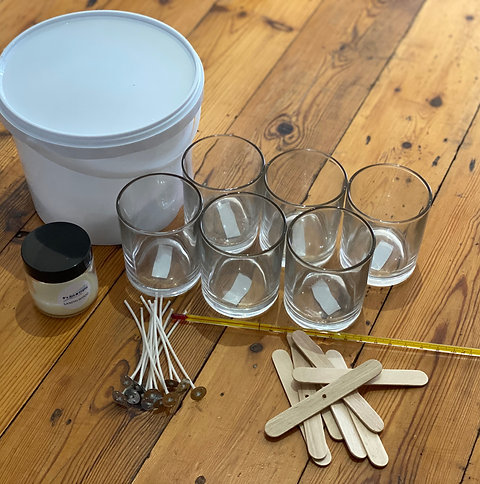 Scented Candle Making Kit with Glasses