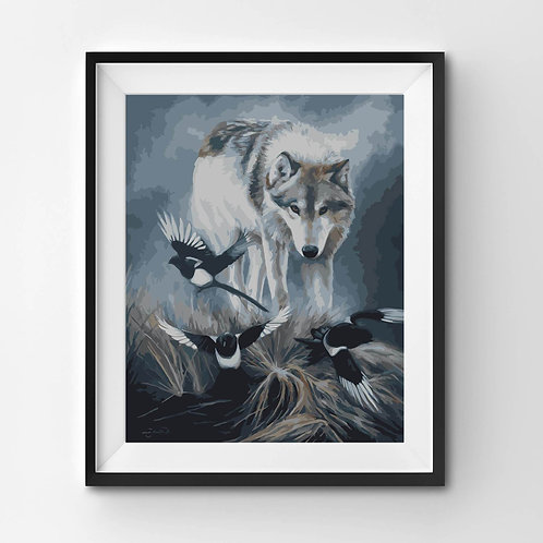 Three For Alpha She-Wolf - Paint By Numbers