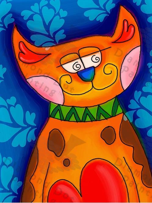 Diamond Dot Painting - Love Cat
