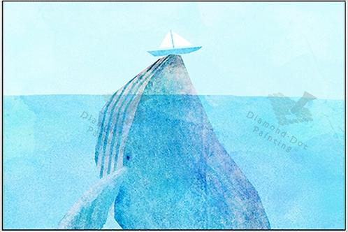 Diamond Dot Painting - Blue Whale