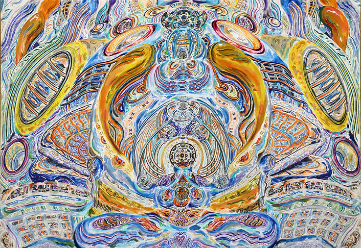 'Vision Magnet' created by Sareth Gavage Art. Orignal psychedelic abstract art piece, 2020