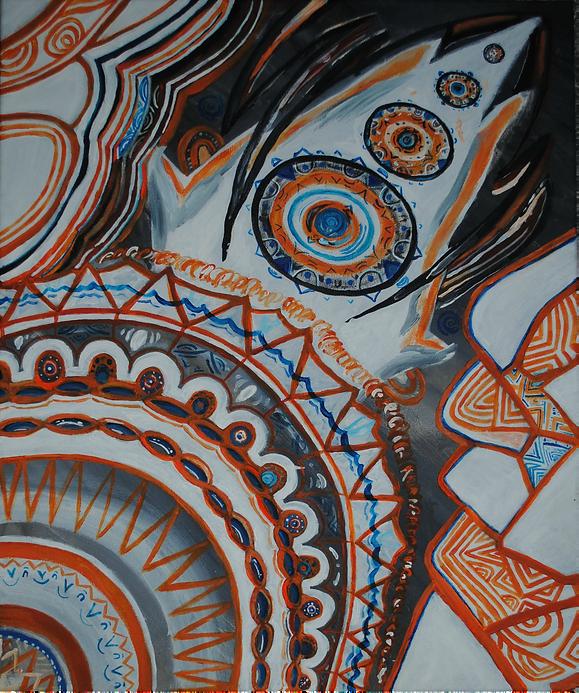 ''(a)symmetrical asymmetries'' created by Sareth Gavage Art. Orignal psychedelic abstract art piece, 2018