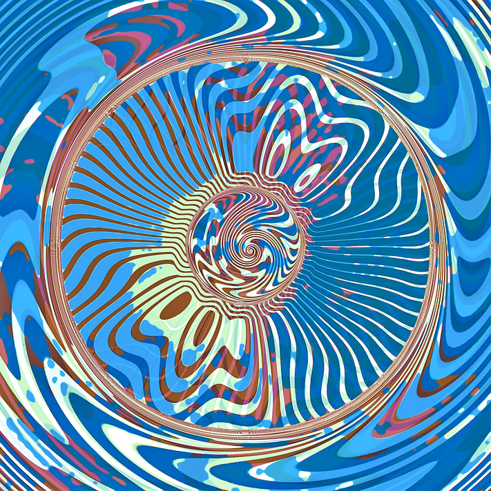 ''Beauty of the Warmth'' Digital psychedelic Art piece, created in 2020  by Sareth Gavage Art