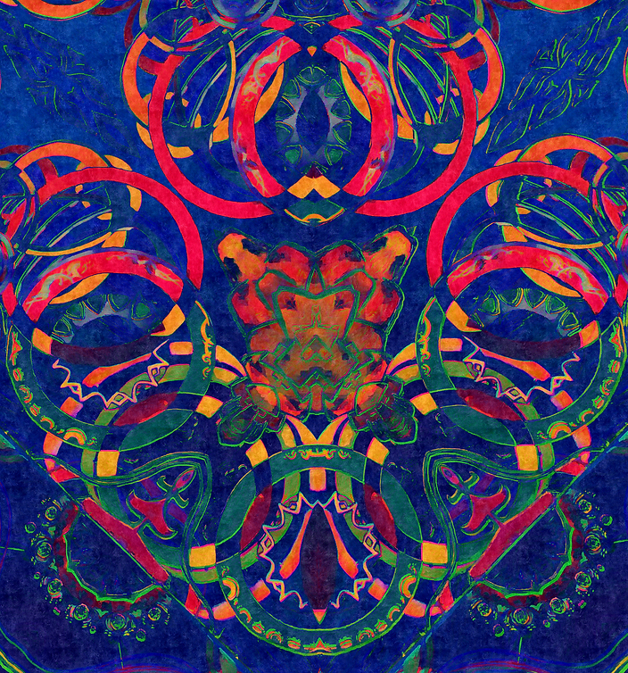 ''Tankered'' Digital psychedelic Art piece, created in 2019  by Sareth Gavage Art