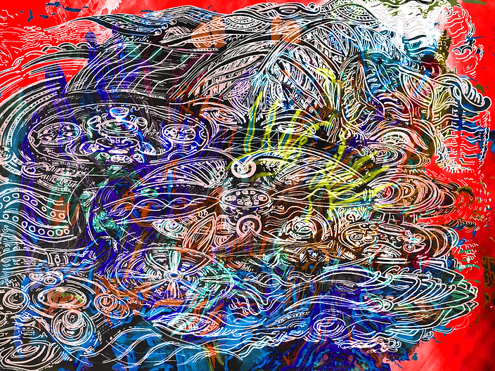 ''Divisions of Majesty'' Digital psychedelic Art piece, created in 2019 by Sareth Gavage Art