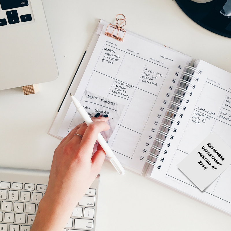 Busy work schedule in a calendar