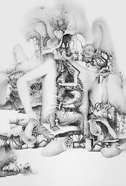 Quantum-Landscape D7 - 종이위에 연필 - 100x60c