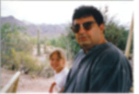 Auther and daughter in 1997