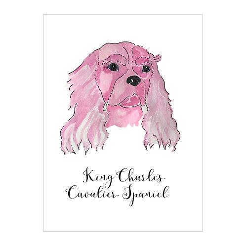 King Charles Cavalier Spaniel Notecard