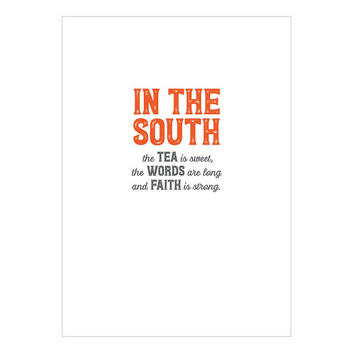 In The South Notecard