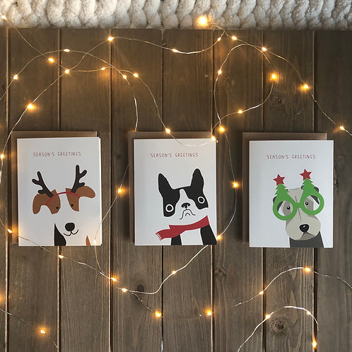 Furry Friends Dog Holiday Cards