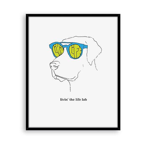 Livin' the Life Lab 8x8 Art Print