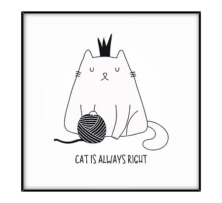4x4 CATS prints CAT IS ALWAYS RIGHT.jpg