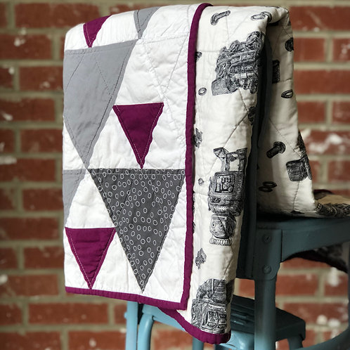 Triangles, Trains and Robots Quilt