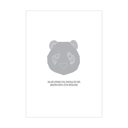 Baby Love Little Panda Greeting Card
