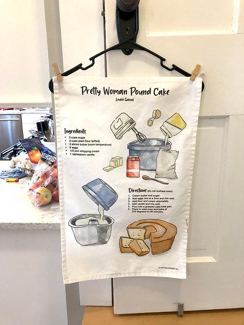 Pretty Woman Pound Cake Recipe Tea Towel