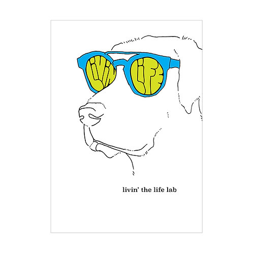 Livin' the Life Lab Greeting Card