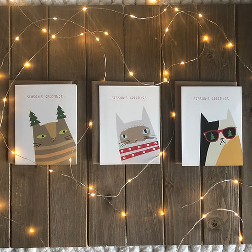 Furry Friends Cat Holiday Cards