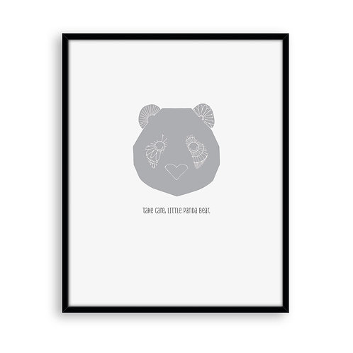 Baby Love Little Panda 8x8 Art Print