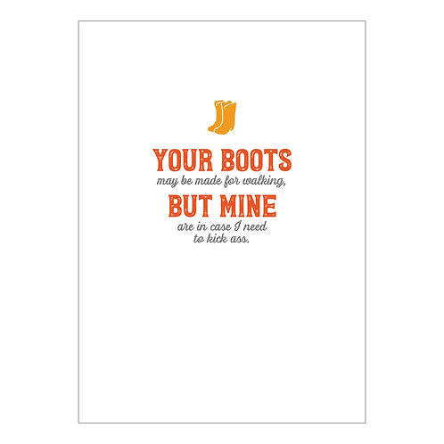 Boots Notecard