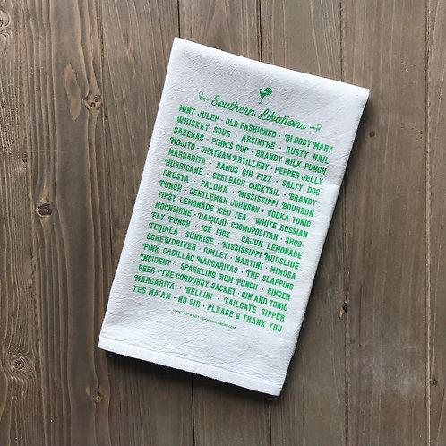Southern Libations Tea Towel