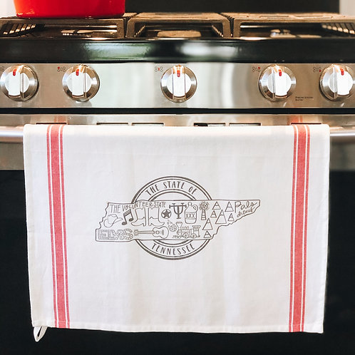 The Great State of Tennessee Tea Towel
