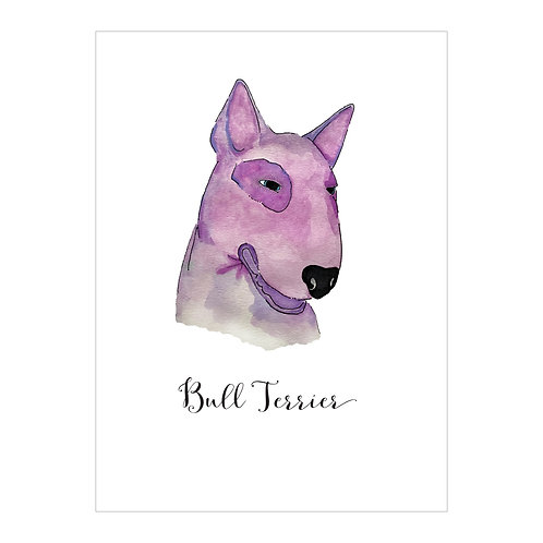 Bull Terrior Notecard