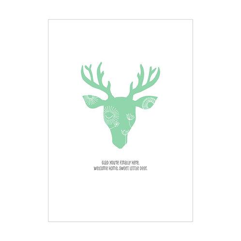 Baby Love Little Deer Greeting Card