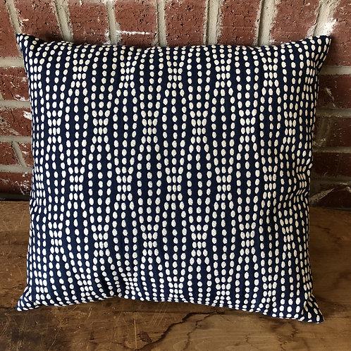 Navy Waves 16x16 Pillow