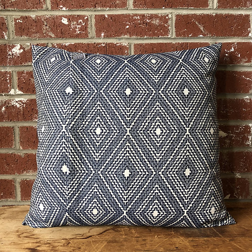 Navy Geometric 18 x 18 Pillow