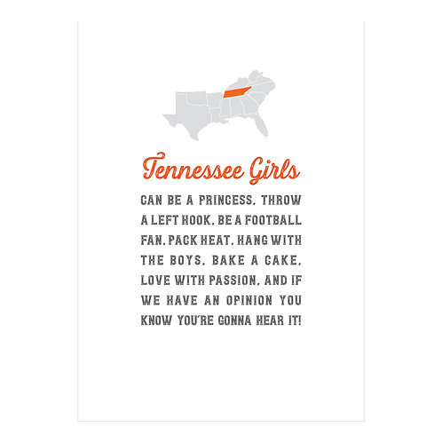 Tennessee Girls Notecard