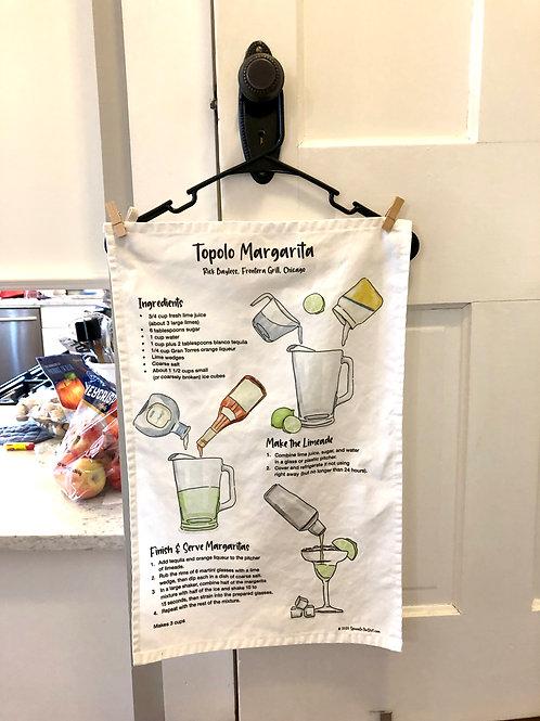 Topolo Margarita Recipe Tea Towel