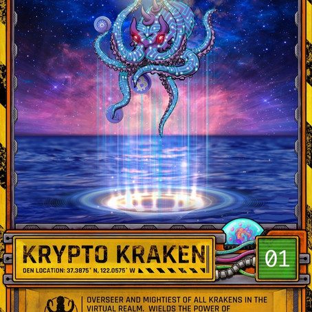 Krypto Kraken Trading Card