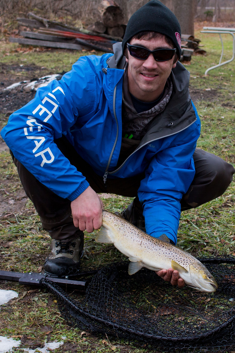 great lakes lake run ontario brown trout fly fishing western new york