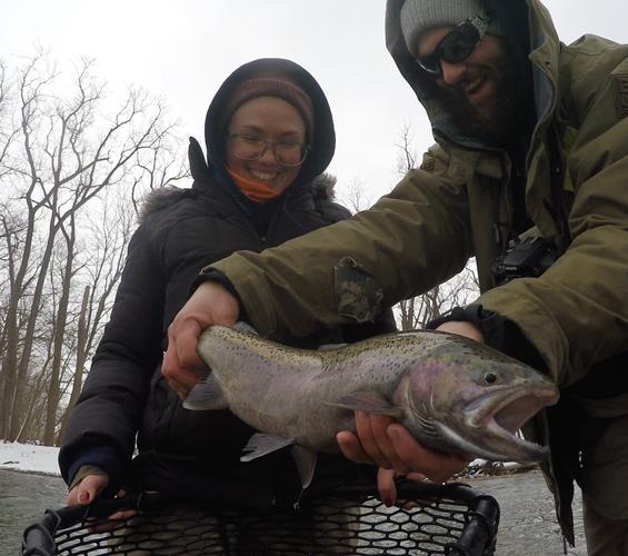 Lake Erie Steelhead Fly Fishing Guided T