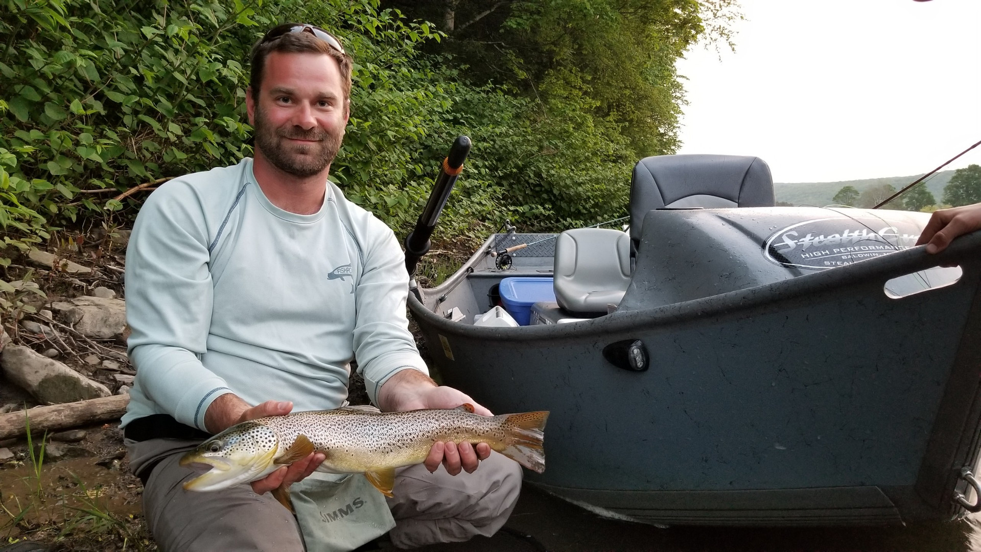 Delaware river streamer brown trout drfi