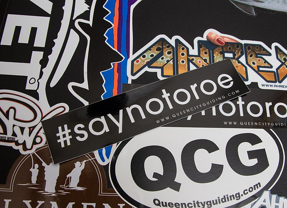 Say NO to roe Sticker