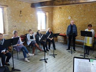 Un atelier de chant chorale à St Ulphace