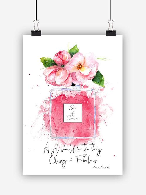 Pink Fashion Art Print 'Classy'