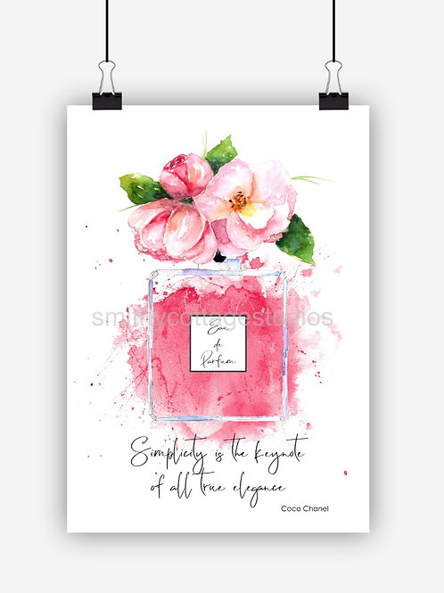 Pink Fashion Art Print 'Simplicity'