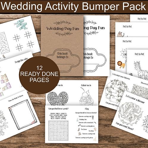 Wedding Activity Book For Kids Printable, Coloring for Kids, Wedding Kids Table