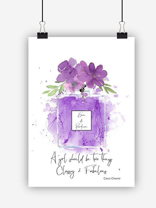 Purple Fashion Art Print 'Classy'