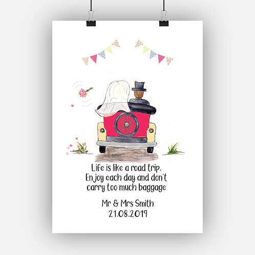 Wedding Car Print