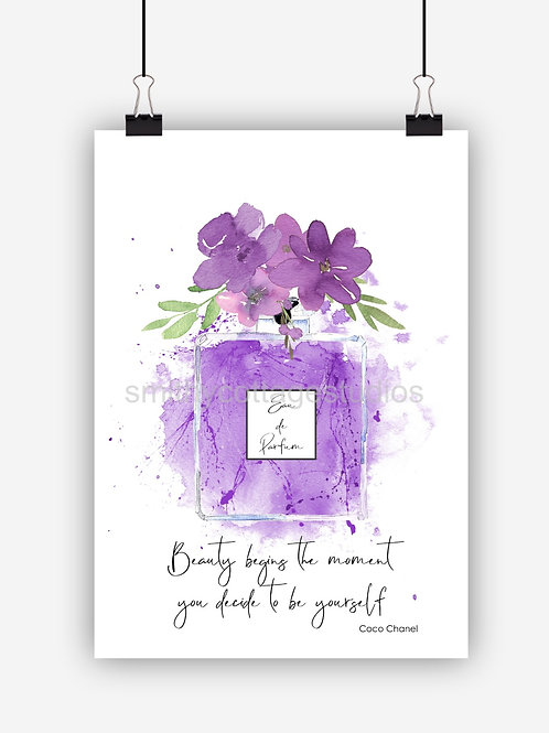 Purple Fashion Art Print 'Beauty'