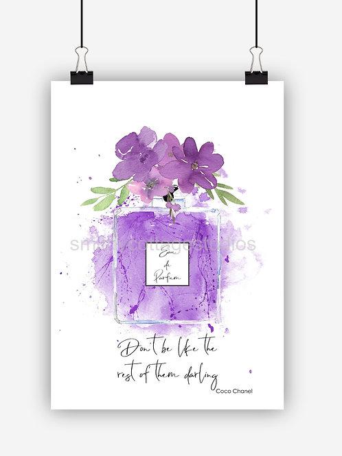 Purple Fashion Art Print 'Dont Be'