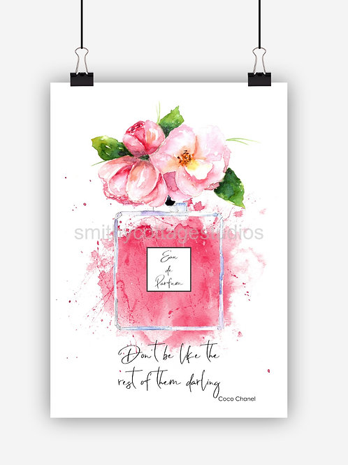 Pink Fashion Art Print 'Dont Be'
