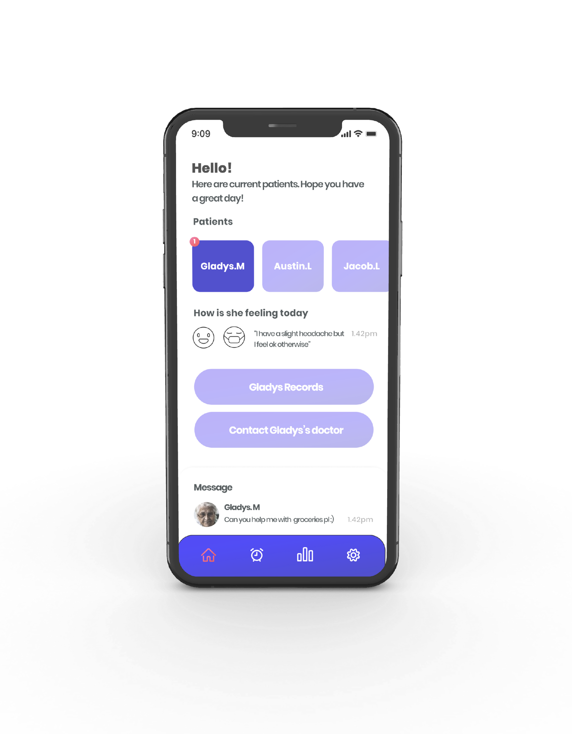 Caregiver Interface