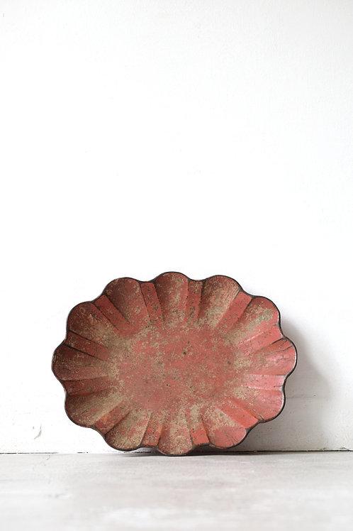 赤パピエマシェトレイ